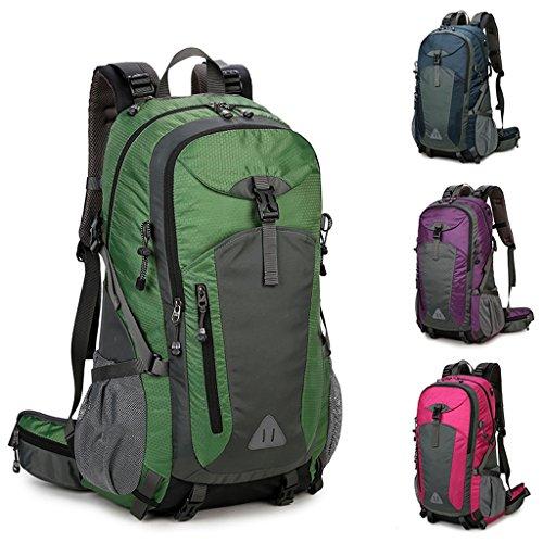 HZH Bergsteigen Taschen Schulter Reisetasche Große Kapazität Wandern Rucksack Umhängetasche Royal Blue