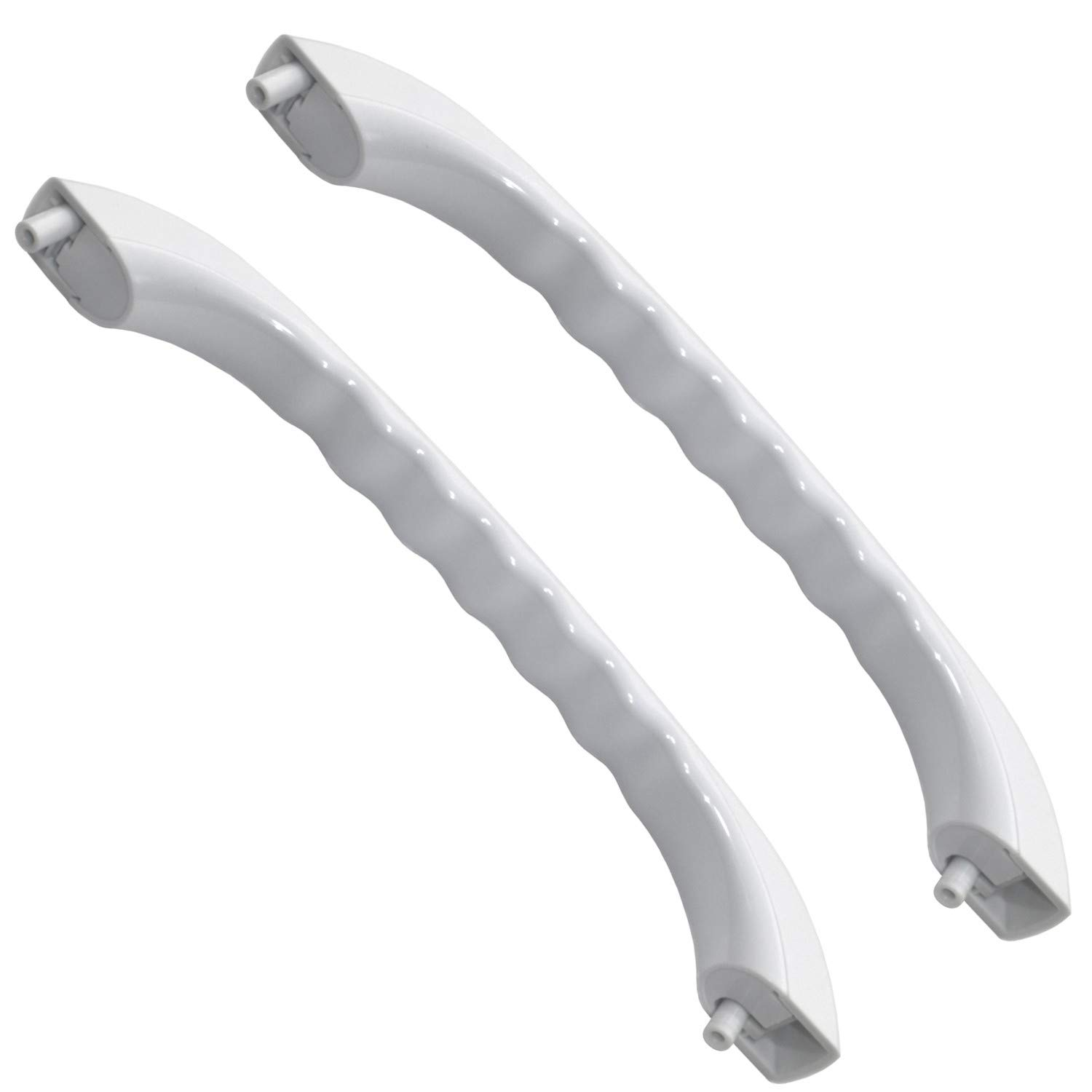 HQRP 2-Pack White Microwave Door Handle Replacement for General electric GE JVM1331WW05 JVM1339WW01 JVM1340WW03 JVM1341WW01 JVM1350WW02 JVM1350WW03 plus HQRP Coaster
