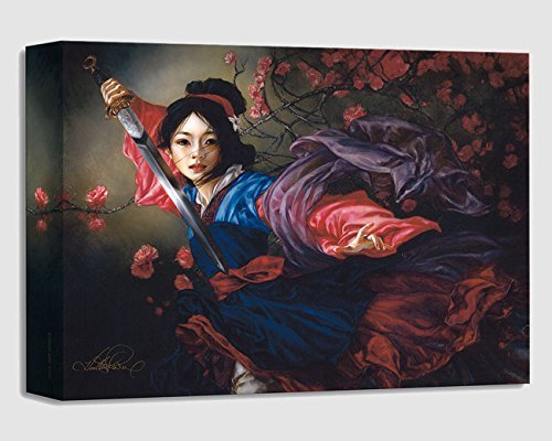 Disney Fine Art Mulan - The Elegant Warrior - Treasures on Canvas - Gallery Wrapped Canvas Wall Art by Heather Theurer by Disney Fine Art