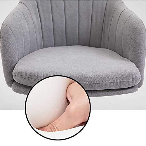 GAOPANG skrivbordsstol armar kontorsstolar för hemmakontor med ryggstöd justerbar höjd datorstol vadderad kudde uppgift stol (grå)