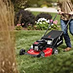"""Craftsman M105 140cc 21-Inch 3-in-1 Gas Powered Push Lawn Mower with Bagger, 1-in, Liberty Red 8 Your purchase includes One Craftsman M105 140cc Gas powered Push Lawn Mower, One bagger and engine oil Lawn Mower width – 21"""" 