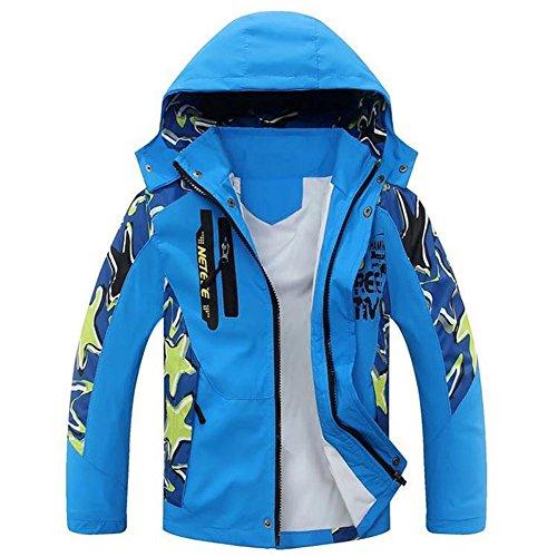PanDaDa Boys Autumn Zipper Hooded Outdoor Jacket Coat Windbreaker Spring