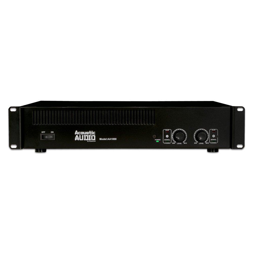 Acoustic Audio by Goldwood Power Amplifier Audio Component Amplifier Black (AA1000)