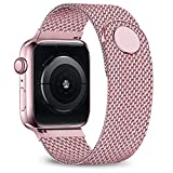 jwacct Compatible for Apple Watch Band 38mm 40mm, Adjustable Stainless Steel Mesh Wristband Sport Loop for iWatch Series 5 4 3 2 1,Rose Gold