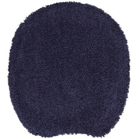 Bath Toilet Seat Cover Tumble Dry Low, Navy by Mainstay