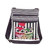 MoGist Beach Bag National Style Striped Owl Pattern Linen Handbag Women's Shopper Shoulder Bag Shopping Bag Style3