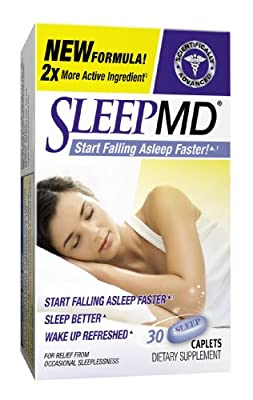 Sleep MD-NightTime Sleep Aid That Work, 30 Caplets, (Pack Of 2), Start Falling Asleep Faster, New Formula with 2x More Active Ingredient
