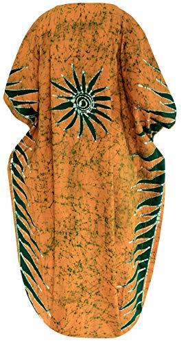 Ropa Más Impreso Camisolas Estilo Kimono Cubrir Arriba Dorado Día Vacaciones Mujer Loungewear Kaftan Túnico Tops La Tamaño De Dormir Playa amp; p103 Leela Para Cada Vestido wCxq0YfO