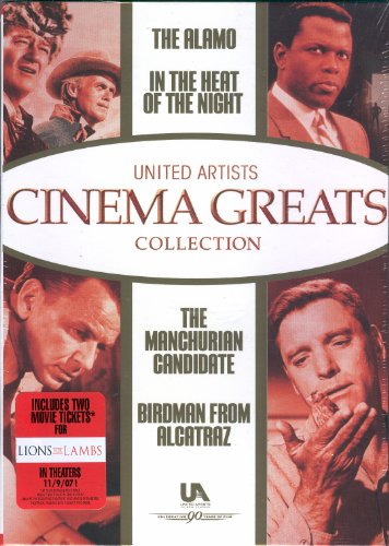United Artists Cinema Greats Collection (The Alamo / In The Heat of the Night / The Manchurian Candidate / Birdman from Alcatraz) (Dvd Birdman Of Alcatraz)