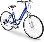 "700c Royce Union RMY Womens 21-Speed Hybrid Comfort Bike, 17"" Aluminum Frame, Pearl"
