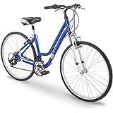 Royce Union 700c RMY Womens 21-Speed Hybrid Comfort Bike, Pearl Blue