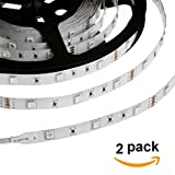 HERO-LED  5M300TAD-24V-RGB LED Strip Tape Light, 5M 16.4FT 5400LM 24V DC 72W IP33 LED Tape, RGB, 2-Pack