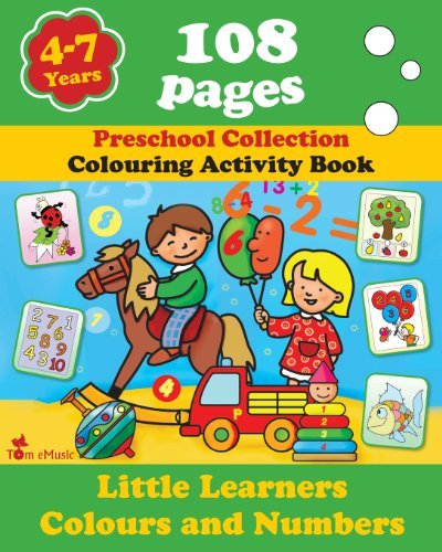 By Alex Fonteyn Little Learners - Colors and Numbers: Coloring and Activity Book with Puzzles, Brain Games, Problems (1st First Edition) [Paperback]