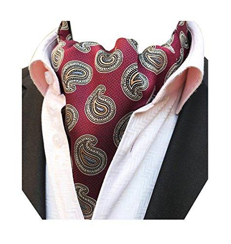 aisley Jacquard Woven Silk Cravat Necktie Scarf Formal Ascot ()