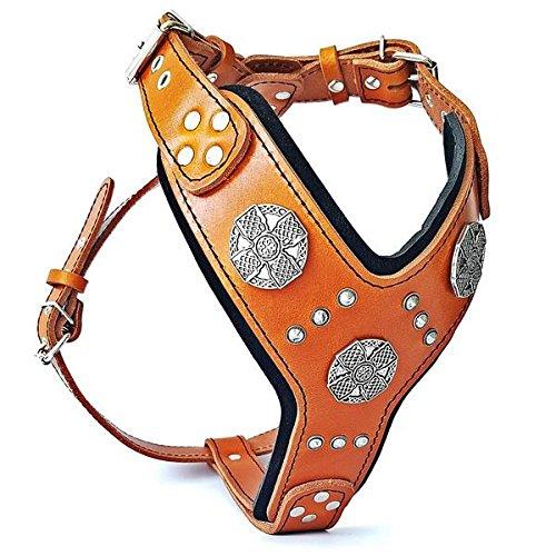 Bestia Maximus Silver big dog leather harness by Bestia
