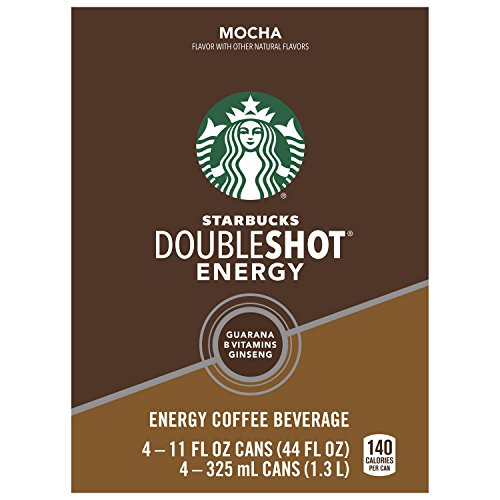 Starbucks Doubleshot Energy Coffee Beverage, Mocha, 11 Ounce Cans, 4 Count