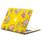 Best Kuzy Macbook Air 13 Inch Cases - Kuzy - AIR 13-inch Vintage Flowers YELLOW Rubberized Review