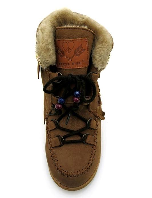 Dolfie - Botas con Piel de cordero - Zapatos infantiles - Botas de niños  Indiana Kids - Marrón 0bb01ae8647