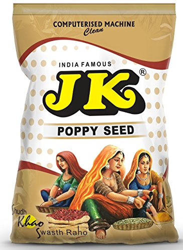 JK INDIAN WHITE POPPY SEED (Khus Khus/POSTA/ POSTO) - 100% Pure and Natural, GMO & Gluten Free, No Added Essence, Color or Preservatives, SPICE 3.53 oz / 100g ()