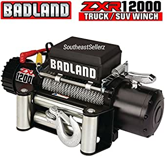 badland winches 12 000 lb off road vehicle. Black Bedroom Furniture Sets. Home Design Ideas
