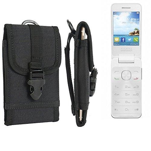 bolsa del cinturón / funda para Alcatel 2012D, negro | caja del teléfono cubierta protectora bolso - K-S-Trade (TM)