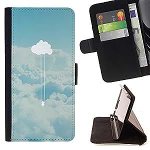King Case - FOR Apple Iphone 6 PLUS 5.5 - Truth of heart - Prima caja de la PU billetera de cuero con ranuras para tarjetas, efectivo Compartimiento desmontable y correa para la mu?eca