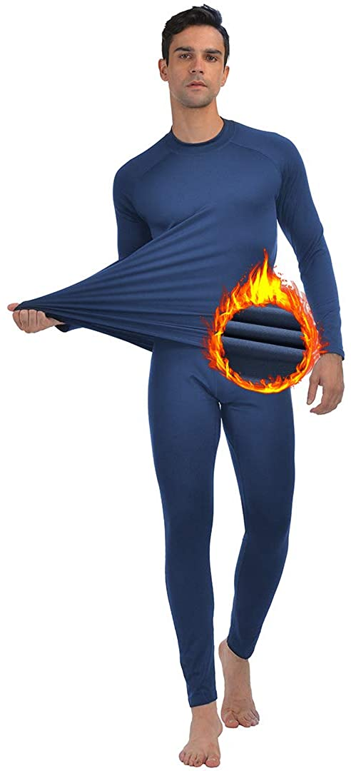 Men/'s Thermal Underwear Fleece Lined Base Layer Long Johns Set Top and Bottom Winter Sports Suits