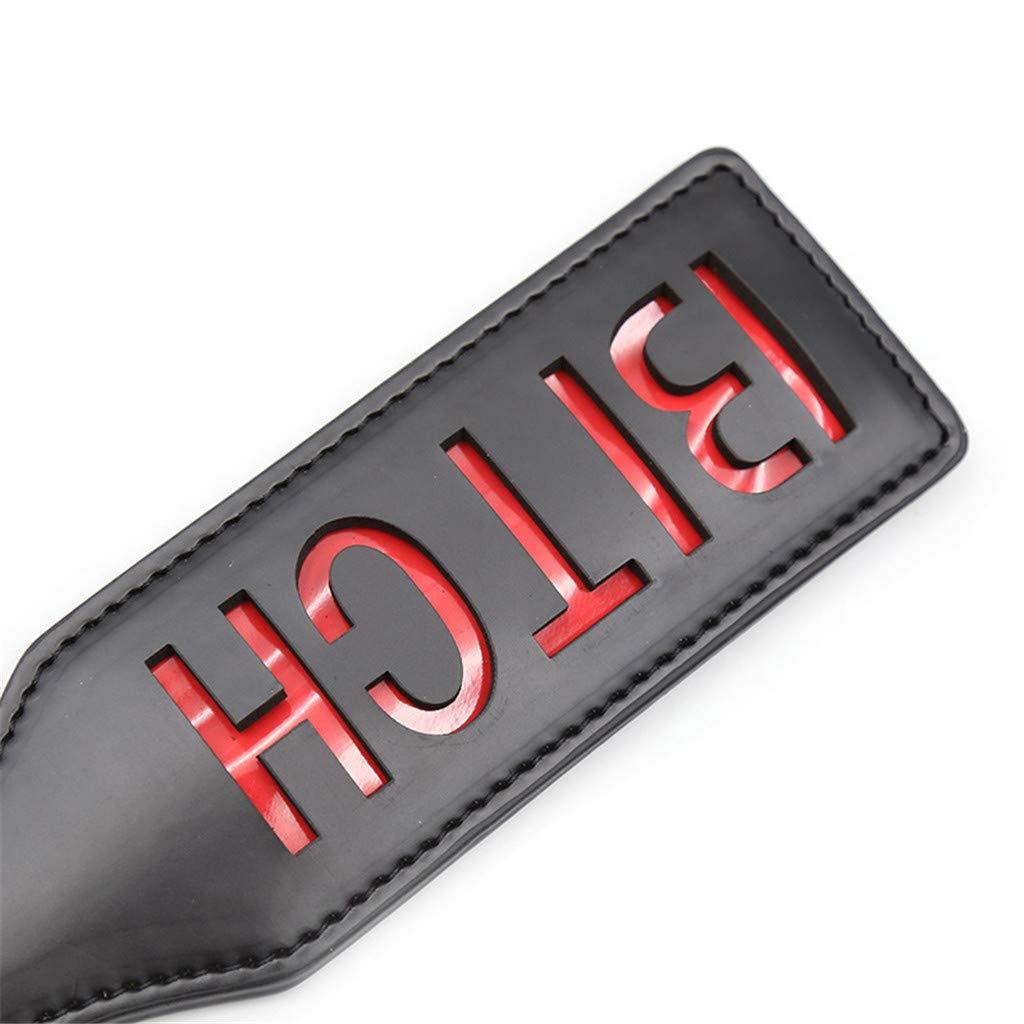 Sp/àńkińg Flōgg/érs Multi-Colored Faux Leather Paddle B`I~T~C`H Whips Riding Crop Bo`n-d/à-g/é Sports Funny Gift,12.6 inch Pink