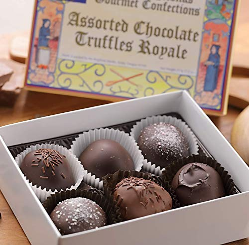 (Brigittine Monks Assorted Chocolate Truffles Royale, box of 6)
