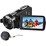 SEREE Camcorder Full HD 1080P 24.0 MP Video Camera Portable Digital Camera Recording with Touch Screen