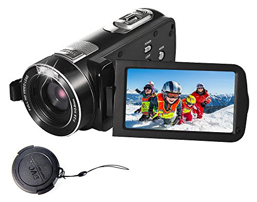 SEREE Camcorder Full HD 1080P 24.0 MP Video Camera Portable Digital Camera Recording with Touch Screen (Screen Camera Reviews Touch Digital)