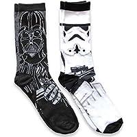 Star Wars Darth Vader y Stormtrooper. Mens Casual Crew–Calcetines (2unidades)