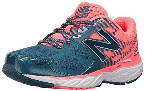 New Balance WomenS 680v3 Running Shoe, Azul/Rosado, 36 EU/3.5 UK