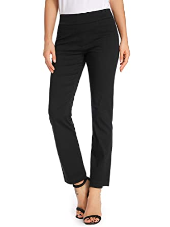 d73efafb2 Women's Casual Bootcut Dress Pants Stretch Comfort Fit Pull on Work ...