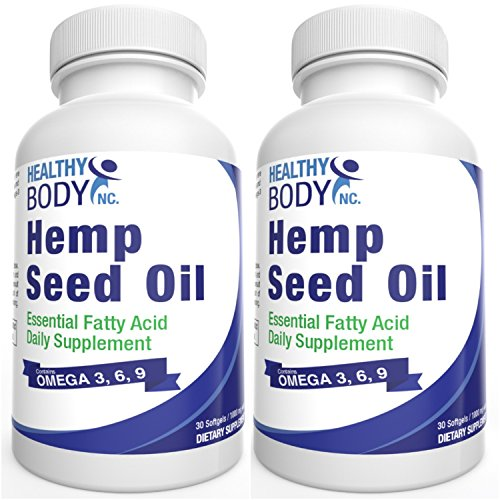 2-Bottles-Hemp-seed-Oil-SoftGels-Hemp-oil-1000-mg-with-Omega-3-6-9-No-worry-of-mecury-from-fish-oil-Cold-pressed-premium-Hemp-Oil