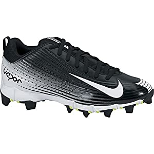 NIKE Men's Vapor Keystone 2 Baseball Cleat Black/White Size 7 M US