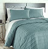 quilt double bed - Southshore Fine Linens - The Brickyard Collection - Lightweight, 3 Piece Quilt Set, Full / Queen, Teal