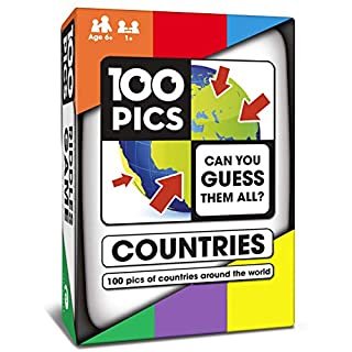 100 PICS Countries of The World Travel Game - Geography Flash Card Quiz | Pocket Puzzle for Kids and Adults…