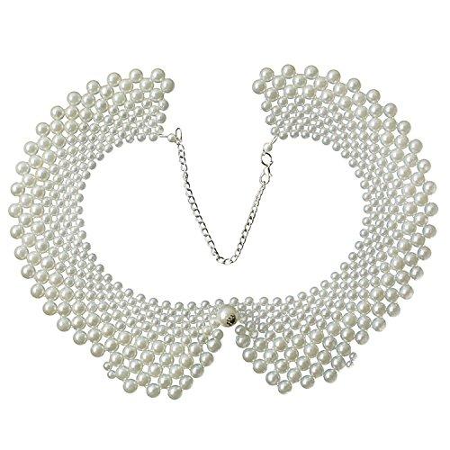 Detachable Blouse Collar Faux Pearls