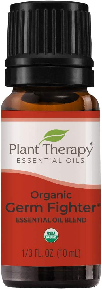 Plant Therapy Organic Germ Fighter Essential Oil Blend 100% Pure, Undiluted, Therapeutic Grade 10 mL (1/3 oz)