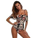 ARINLA 2018 Summer Womens One Piece Monokini Swimwear Bikini Beach Bathing Suit Padded Beachwear