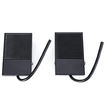 etc 250V 10A equipment 2pcs Foot Pedal Switch,Non-slip Momentary Self-Reset Power Treadle Pedal Foot Control Switch with Cable 24cm for machine tools