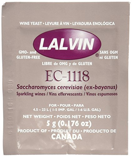 (Lalvin Dried Wine Yeast EC #1118 (Pack of)