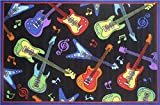 Guitars Kids Area Rug (58 in. L x 39 in. W (5 lbs.))