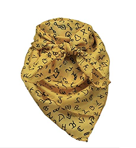 Gold Wild Rag With Brands