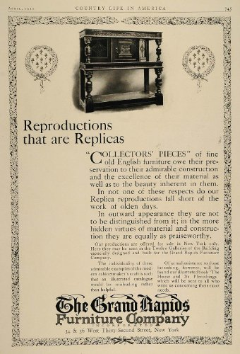 1910 Ad Reproduction English Furniture Grand Rapids NYC - Original Print Ad (English Reproduction)