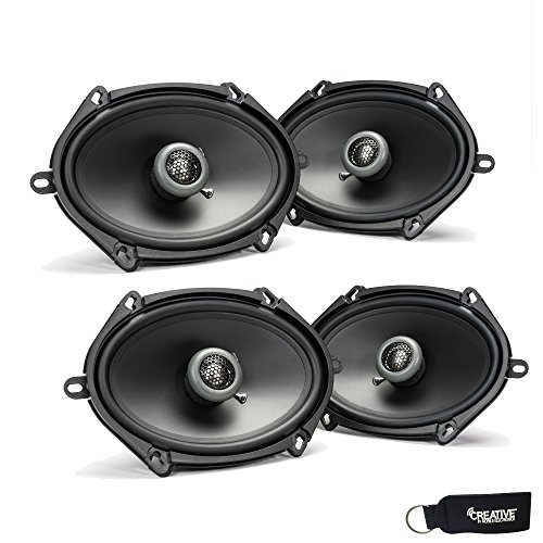 MB Quart - Two Pairs Of Formula 5x7/6x8 Inch 2-Way Coaxial Car Speakers - FKB168