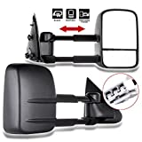 02 f150 tow mirrors - ECCPP Towing Mirror by Pair Side Mirror Replacement for 1997 1998 1999 Ford F150 F250 Standard Extended Cab (Not for 4 Doors Crew Cab Models) with Power Telescopic Manual-Folding - Textured Black