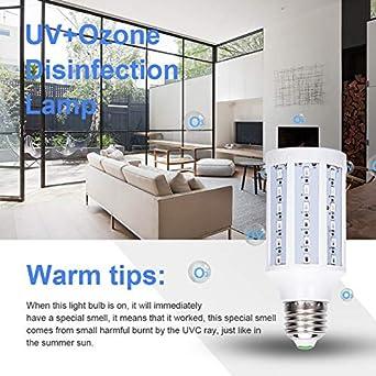 E27 UV-keimt/ötende Lampe Ozonfreies Desinfektionslicht LED UVC Gl/ühbirne mit Fernbedienung AHHYH Sterilisationslampe UV-Licht-Desinfektionsmittel UV-Gl/ühbirne E26