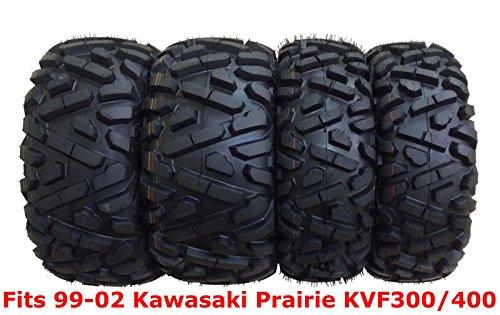 (Set 4 WANDA ATV tires 25x8-12 & 25x11-10 for 99-02 Kawasaki Prairie KVF300/400)